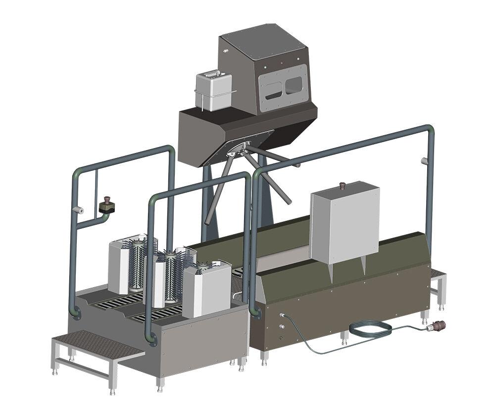 Gépgyártás, higiéniai beléptető csizmamosó berendezés