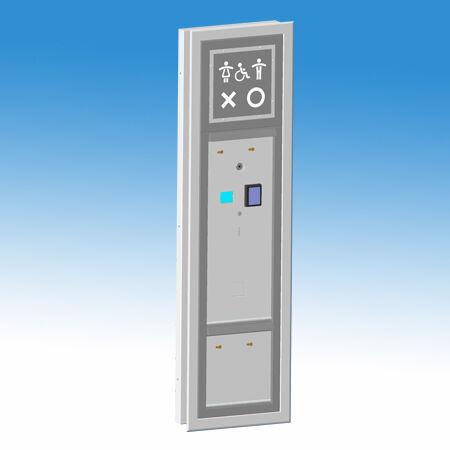 Nyilvános WC beléptető és kijelző modul