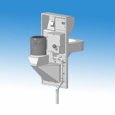 Mosdó modul nyilvános WC-k részére