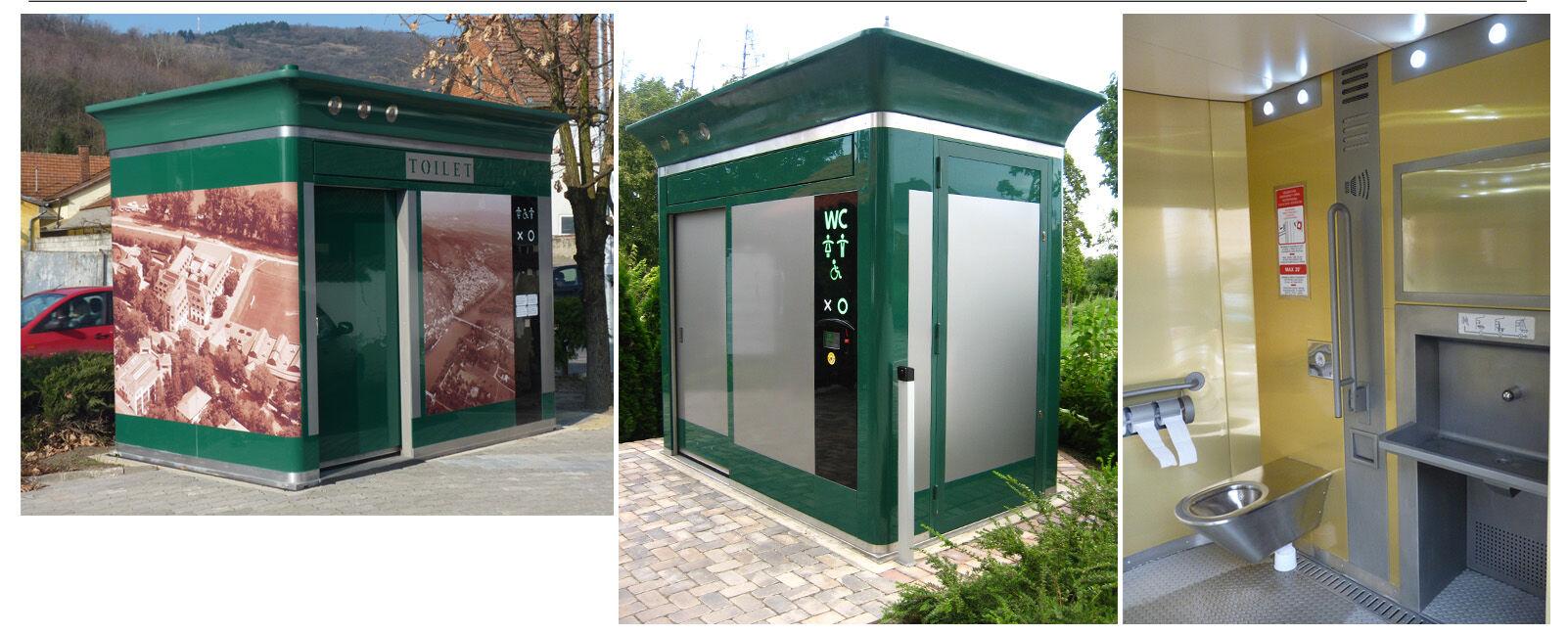 Nyilvános WC, utcabútor