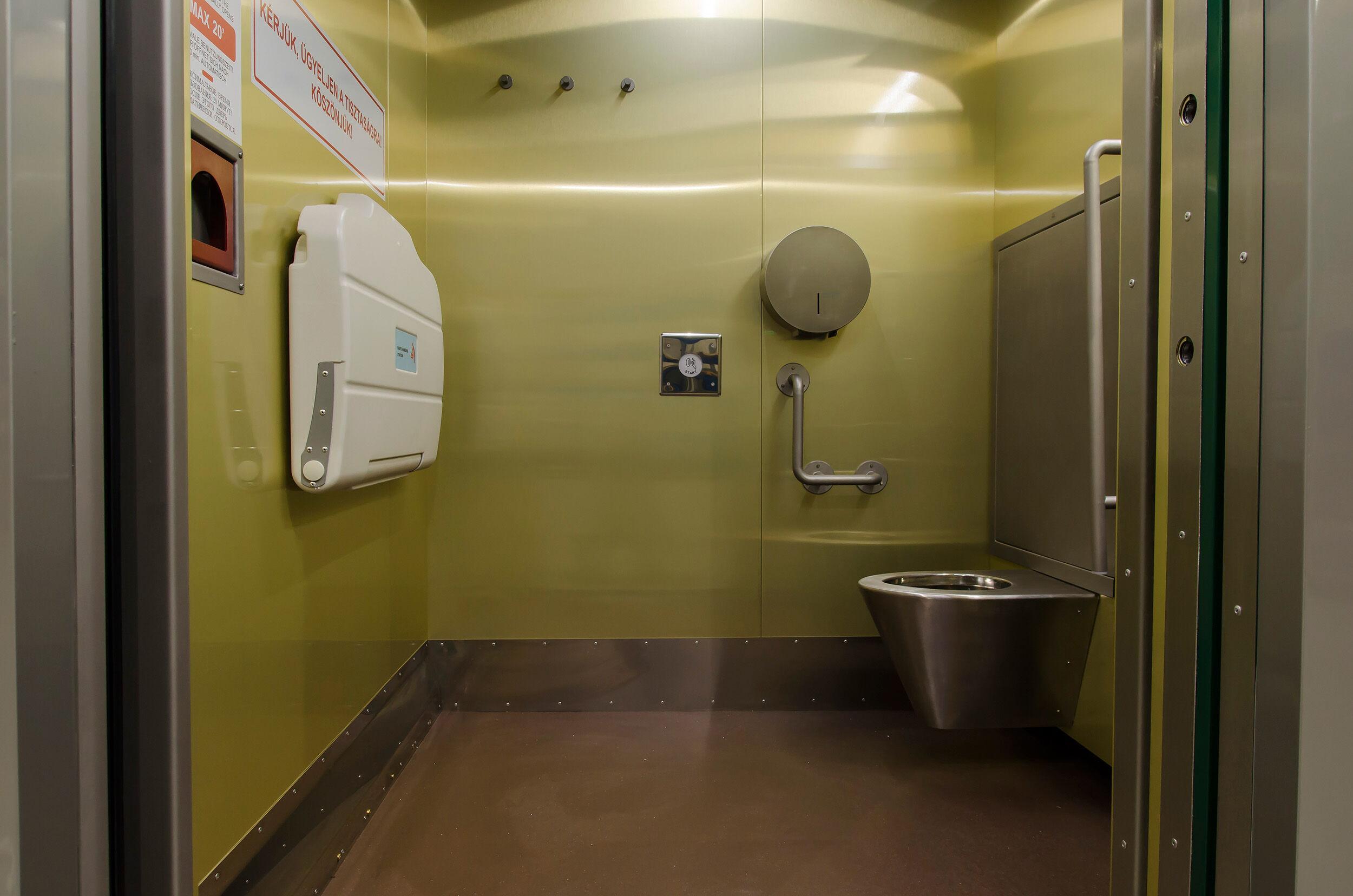 Okos nyilvános WC